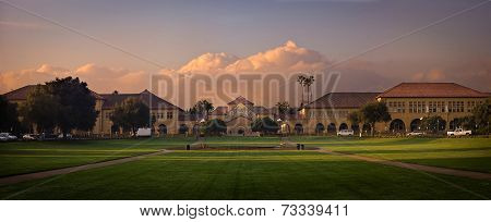 Stanford university at sunrise