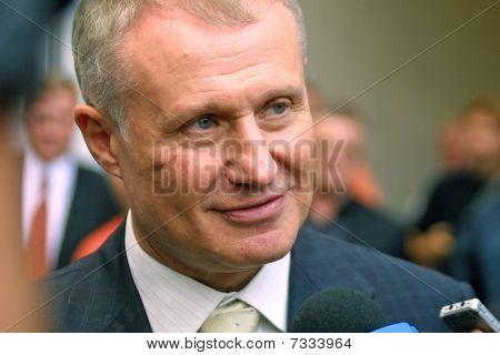The President of Football Federation of Ukraine Grygoriy Surkis