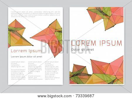 Vector  business brochure or magazine abstract cover  template