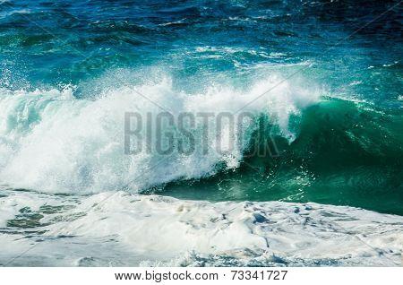 Hawaiian coastal beach wave