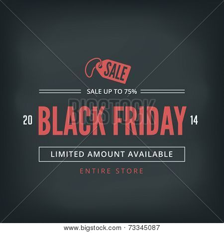 Black Friday Sale Poster design Typography vector template Retro style. Vintage Banner.