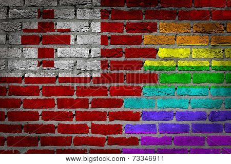 Dark Brick Wall - Lgbt Rights - Tonga