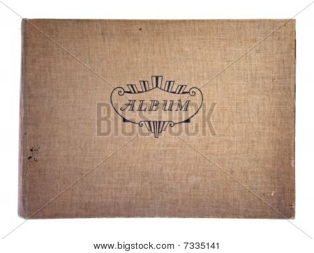 Cover Of Old Photographic Album