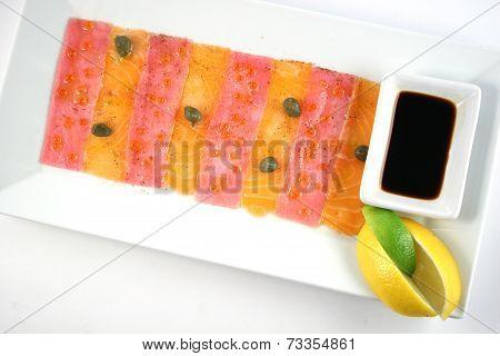 Carpaccio From Salmon And Tuna