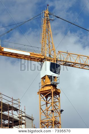 Construction Crane On A Major Property Development