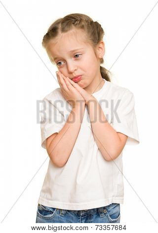melancholy little girl portrait