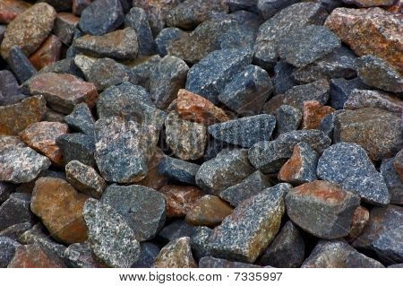 Crushed rocks pattern