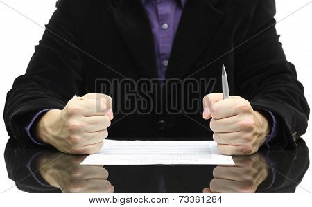 Angry Boss When Reading Contract