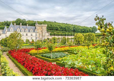 Castle Villandry With Garden.