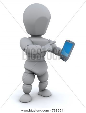 Man With Palm Pilot