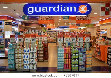 Guardian Pharmacy Retain Shop Located In Singapore