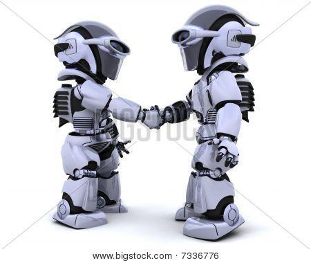 Robots Shaking Hands