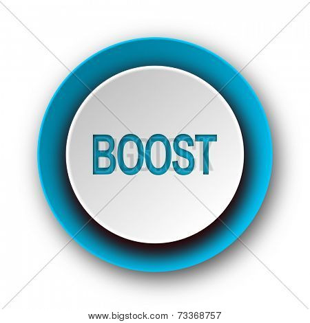 boost blue modern web icon on white background