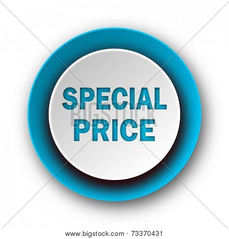special price blue modern web icon on white background