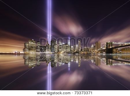 9-11 Tribute Lights,manhattan New York