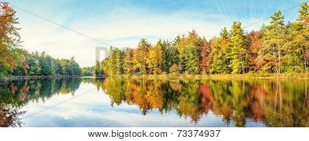 Mersey River In Fall