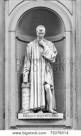 Statue Of Niccolo Macchiavelli In Florence