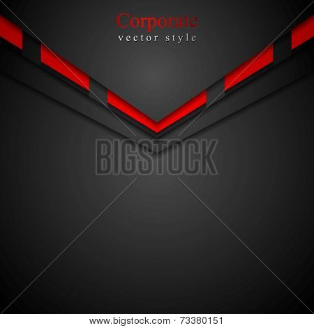 Dark modern corporate arrow design. Vector background