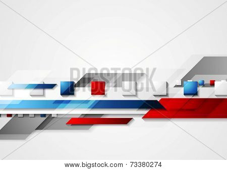 Shiny hi-tech red and blue background. Vector design