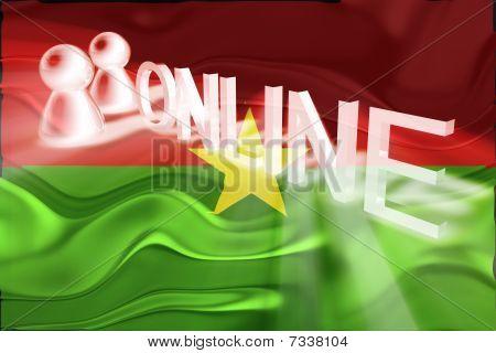 Burkina Faso Flag Wavy Online