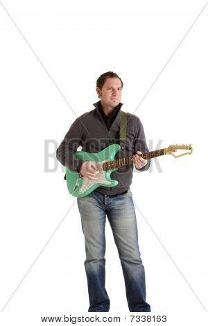 Rockerboy with e guitar