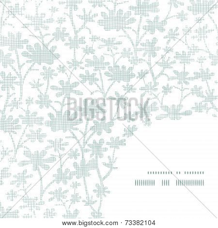 Vector abstract gray bush leaves textile frame corner pattern background