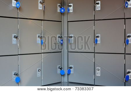 Secure Lockboxes For Storage Of Luggage