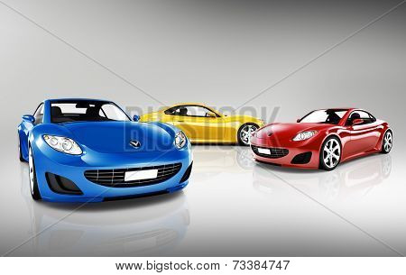 Collection of 3D Sports Cars
