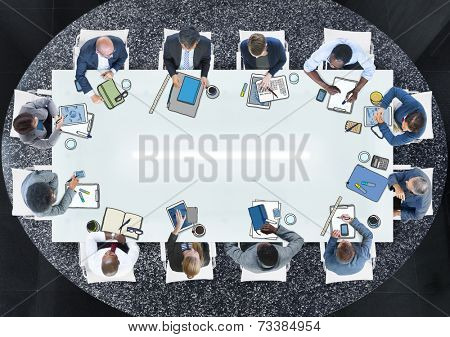 Group of People in a Meeting Photo Illustration