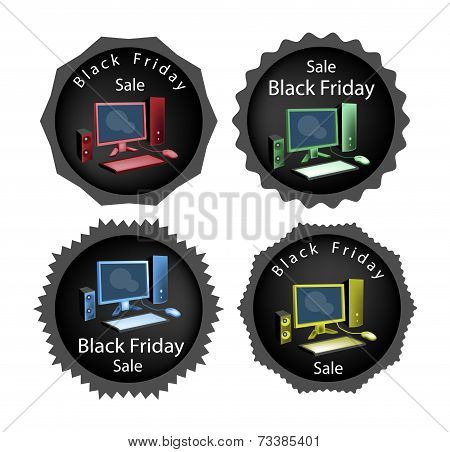 PC Computer on Black Friday Sale Background