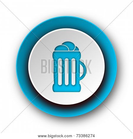 beer blue modern web icon on white background