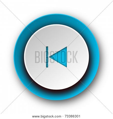 prev blue modern web icon on white background