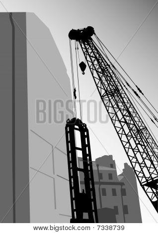 Building on crane