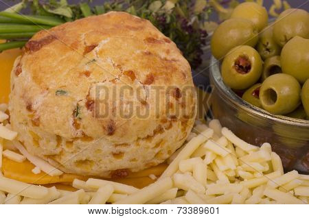 Cheese and Chive Scone