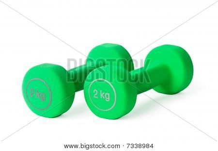 Green Dumbbells