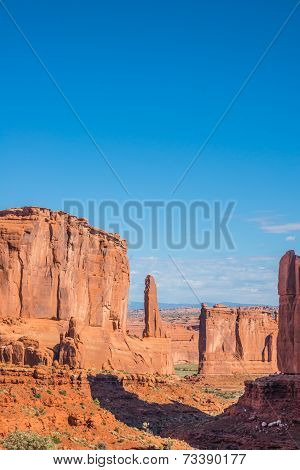 Red Rock Sandstone Formations In Canyon