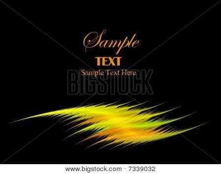 Yellow Swoosh With Copy Space For Text