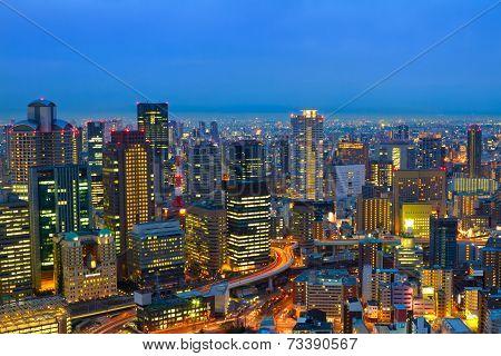 Osaka At Night, Japan