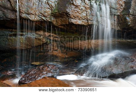 Small waterfall and rocks