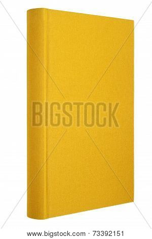 Yellow book isolated on white