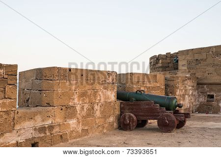 The Cannon On The Skala De Le Ville Fort