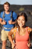 stock photo of magma  - Hiking couple  - JPG