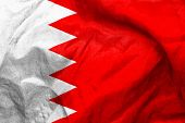 picture of bahrain  - Bahrain flag texture creased and crumpled up - JPG