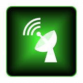 image of antenna  - Wireless antenna icon - JPG