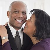 stock photo of adoration  - African couple hugging - JPG