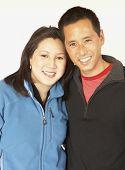 image of adoration  - Asian couple hugging - JPG