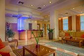 picture of reception-area  - Lounge area of a hotel - JPG