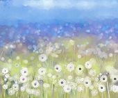 pic of acrylic painting  - Abstract flowers plant painting - JPG