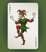 picture of jestering  - Vector Joker playing card - JPG