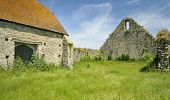 stock photo of tithe  - St Leonards Grange medieval tithe barn New Forest - JPG